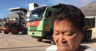 Ouma Delia Fielies speaks about the bulldozers in Woodstock, Cape Town Lately