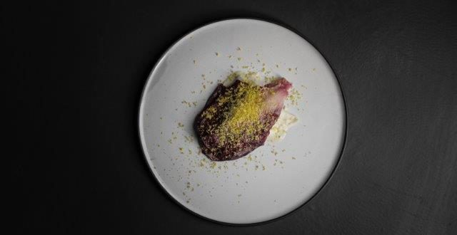 Line fish, radicchio, cured yolk at The Kitchen, Cape Town Lately