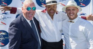 Leon Schuster, Alfred Ntombela at the Sun Met, Cape Town Lately